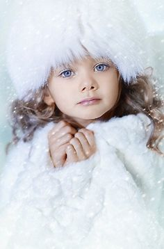 Russian child model Varvara Vorobyeva. Russian girls. Russian beauty. Fur hat. Winter collection. Kids photography.