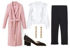 How to wear pink. Coat from Ganni.