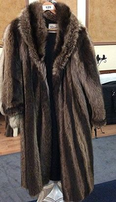 Full Length Racoon Fur Coat by Planker