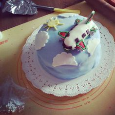 #aereo #plane #flight #alitalia #birthday #cake #torta #compleanno #clouds #nuvole #tofly #volare #mordimibyemme