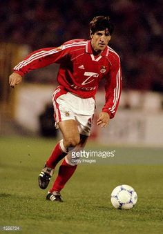 Chano of Benfica in action during the Portugeuse Football Championships against Sporting Lisbon played at the Stadium of Light in Benfica Portugal...