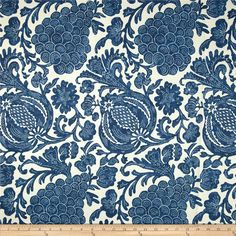 P Kaufmann Batik Indigo from @fabricdotcom  Screen-printed on a linen/rayon blend fabric, this versatile medium weight fabric is perfect for window treatments (draperies, valances, curtains and swags), toss pillows, duvet covers, pillow shams, slipcovers and upholstery. Colors include blue and white.