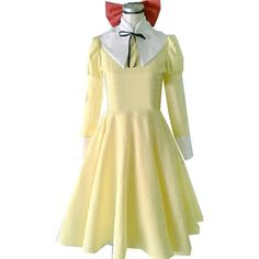 Onecos Ouran High School Host Club Girl's Yellow Dress Cosplay Costume ($96) ❤ liked on Polyvore featuring dresses