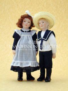 Lisa Johnson-Richards, Miniature Doll Artist & Couturiere (Edwardian Era)