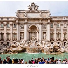 Love the Trevi Fountain in Roma-Check out our Candelaria Design Tour Italy at www.candelariadesign.com