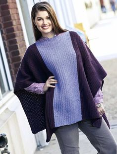 Ravelry: Accent Panel Poncho pattern by Shannon Mullett-Bowlsby