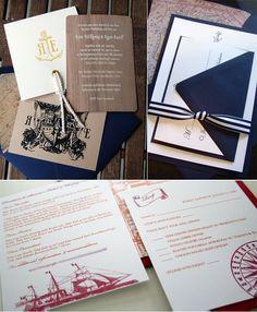 sailing wedding invites (via Nautical Wedding Stationery, Nautical Wedding Theme, Party Invitations, Invitation Ideas, Invites, Yacht Party, Nautical Design, Happily Ever After, Wedding Inspiration