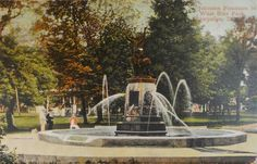 Champaign, IL - Johnson Fountain in West Side Park - 1909.