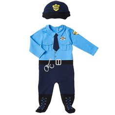 "Koala Baby Boys' 2 Piece Blue Police Footie and Hat Layette Set - Babies R Us - Babies""R""Us"