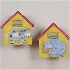 Kidsline Barn Yard Drawer Pull Knobs - Set of 2