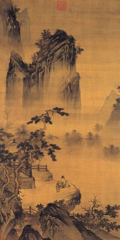 宋代 - 馬遠 -《舉杯玩月圖》 Ma Yuan (c.1160 -1225) was a Chinese painter of the Song Dynasty.