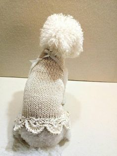 Knit Dog clothes Dog dress Pet clothing XXS dog clothes | Etsy