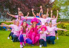 Pink ladies posing around a very pink car! Race for Life Norwich 2013. [Photography by Kayleigh Poacher]