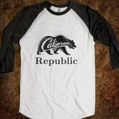 California Bear Flag Republic Baseball Shirt | Bear Flag Museum