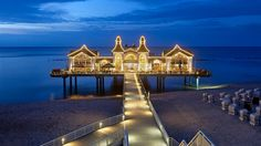 The Sellin Pier is a pier in Sellin on the island Rugen [1920  1080]