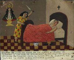 30 июля 1958 года меня попутал бес, и я собиралась зарезать своего мужа кухонным ножом. Но Пресвятая Дева Сапопанская удержала меня от греха, за что я ей крайне благодарна.