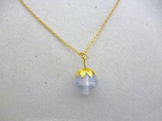 Modern Minimal Delicate Iridescent Glass Necklace http://etsy.me/1zLgrnG @Etsy #NEcklace #Jewelry #Gold #Glass #Kei #Simple #Layering #Boho