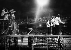 Beatles at Comiskey Park, Chicago, Aug. 20, 1965. Um, yea I was 8 years old but I do remember everything!!!!