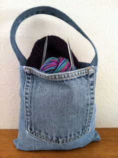 Reduce Reuse Recycle (jeans, denim, bag, repurpose, upcycle, pouch, diy, crafts, ideas, inspiration)