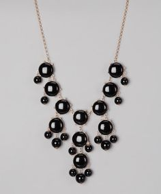14.99  Take a look at this Polka Dotsy Black Bubble Necklace by Polka Dotsy on #zulily today!