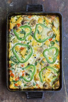 This is an Easy Vegetarian Egg Casserole that will make your family come back for more! So full of flavors that will melt in your mouth! | The Mediterranean Dish