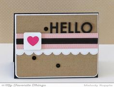 HELLO by mrupple - Cards and Paper Crafts at Splitcoaststampers