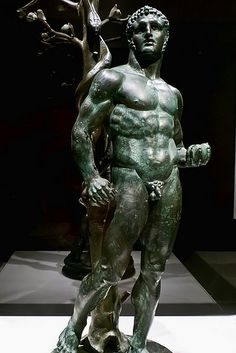 Herakles with the Apples of the Hesperides Roman 1st century CE from a temple at Byblos Lebanon