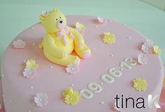Yellow Bear Christening Cake