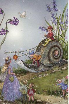 Jean en Ron Henry: Fairy ritten snail (wenskaart) - Huuto.net