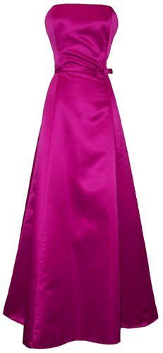 50 s strapless satin long gown bridesmaid prom dress holiday formal