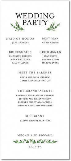 Traditional Wedding Program Template Musthaveweddingphotos