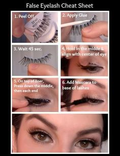 False Eyelash Makeup