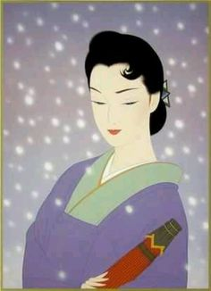 "FB. Japanese art and culture, peace and the world. ""Button Snow "" of ""Ichiro Tsuruta """
