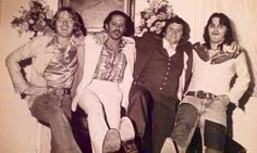 Here's an early image of our managers and agents. (L to R) Alan Walden (mgr) Alex Hodges (agent) Terry Rhodes (agent) Charlie Brusco (mgr) 1975