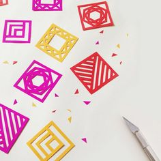 Make this bright, delightful geometric garland to spicy up your party!