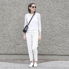 Melissa Araujo goes white on white in her J BRAND Eniko Tee in White. #InMyJBRAND
