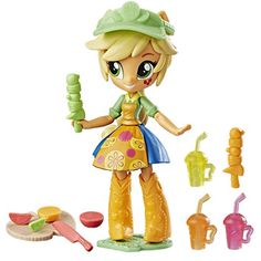 MLP Applejack Mall Collection Fruit Smoothies Shop EQG Minis