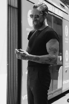 All Black ink beard men Style tumblr