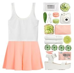 """Watermelon"" by jeune-et-jolie ❤ liked on Polyvore featuring Miss Selfridge, Charlotte Russe, Bobbi Brown Cosmetics, Fujifilm, Stila, H&M, Linum Home Textiles, Abyss & Habidecor and NARS Cosmetics"
