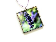 Lavender photo wall art stained glass #ornament #lavender by DesignsStainedGlass