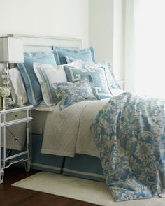 """Constance"" Bed Linens by Legacy Home at Horchow."