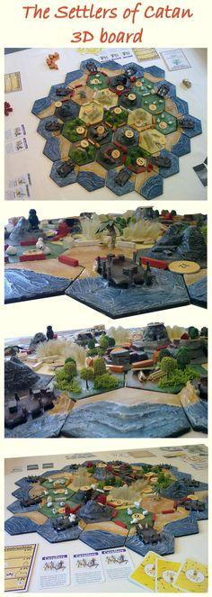 The settlers of Catan, 3D board, #boardgame , #accessory , #model