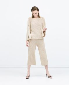 CROPPED PALAZZO TROUSERS - Culottes - Trousers - WOMAN | ZARA United States