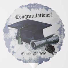 Blow your guests away with Congratulations balloons from Zazzle! Fill up a room with helium and table top balloons for your party or celebration. Helium Gas, Custom Balloons, Blue Balloons, Party Napkins, School Colors, Colorful Backgrounds, Graduation, Cap, Design
