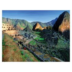 J.P. London Design, Inc. PMUR2079 Aztec Mountain Range Wilderness Forest Peel and Stick Removable Wall Mural