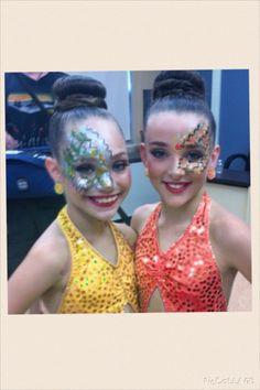 Dance Moms - Maddie Ziegler & Kendall Vertes - Bodies Electric ~ Green & Yellow -> Yellow & Orange