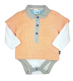 a6f142cf711c Ted Baker Baby Boys Romper Polo Bodysuit Orange Long Sleeves DESIGNER 9-12  M for sale online