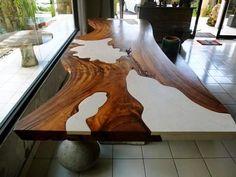 wood slab table - Google Search