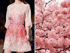 Blumarine – Collection Printemps/Été 2015 & Fleurs de cerisiers japonais