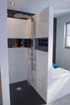 tringle rideau de douche angle sur mesure baignoire sous pente combles salle de bain. Black Bedroom Furniture Sets. Home Design Ideas